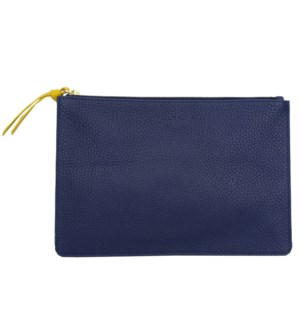 CLUTCH/Leather Navy