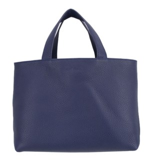TOTE/Leather Navy Yellow