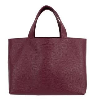 TOTE/Leather Plum & blue