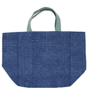 TOTE/Grocery Blue & Green Lg
