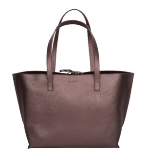 TOTE/Leather Chocolate Bronze