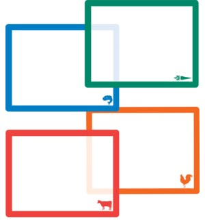 FLEXCMAT/4pk Clear Food Icons