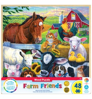 PUZZLES/48PC Farm Friends Wood