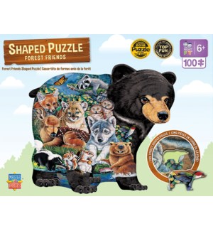 PUZZLES/100PC Forest Friends