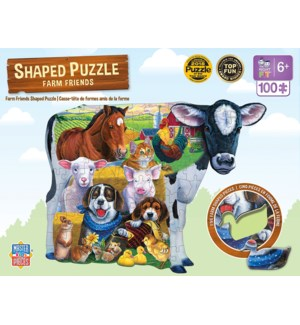 PUZZLES/100PC Farm Friends