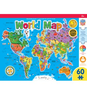 PUZZLES/60 PC World Map