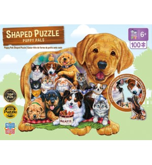 PUZZLES/100PC Puppy Pals