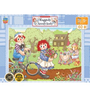 PUZZLES/60PC Ann & Andy Bike