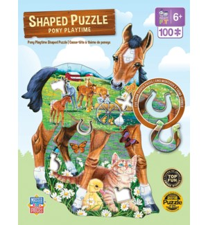 PUZZLES/100PC Pony Playtime