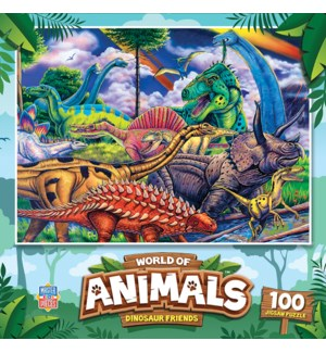 PUZZLES/100PC Dinosaur Friends