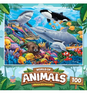 PUZZLES/100PC Undersea Friends