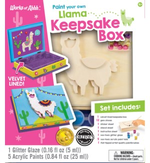 PAINTKIT/Llama Keepsake Box