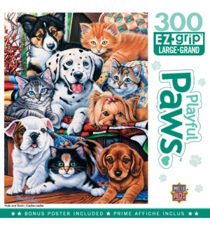 PUZZLES/300PC Playful Paws