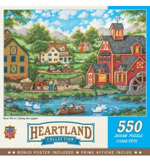 PUZZLES/550PC Swan Pond