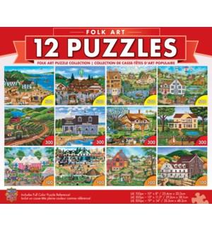 PUZZLES/12pk Folk Art Bundle