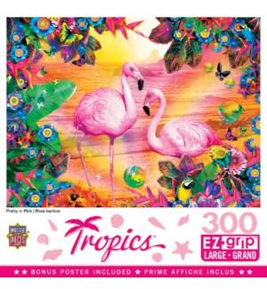 PUZZLES/300PC Tropics Pink