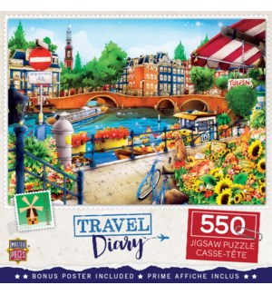 PUZZLES/550PC Travel Amsterdam