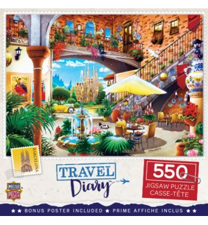 PUZZLES/550PC Travel Barcelona