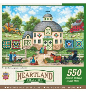 PUZZLES/550PC The Quilt Barn