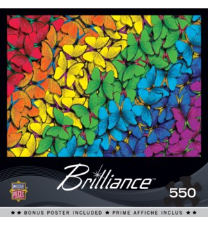 PUZZLES/550PC Fluttering Rnbow