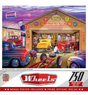 PUZZLES/750PC Wheels-Hot Rods