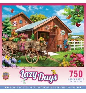 PUZZLES/750PC Flower Farm