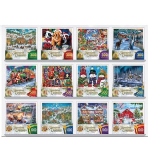 PUZZLES/12pk Asst Holiday