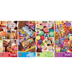 PUZZLES/500PC Sweet Shop Asst