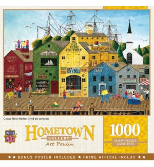 PUZZLES/1000PC Crows Harbor