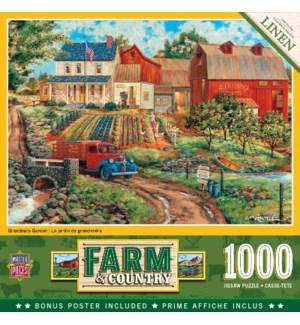 PUZZLES/1000PC Grandma Garden