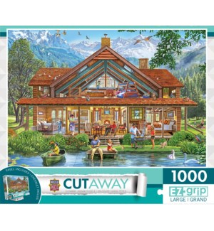 PUZZLES/1000PC Camping Lodge