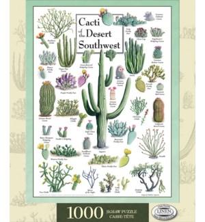 PUZZLES/1000PC Cacti Desert SW