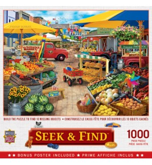 PUZZLES/1000PC Market Square