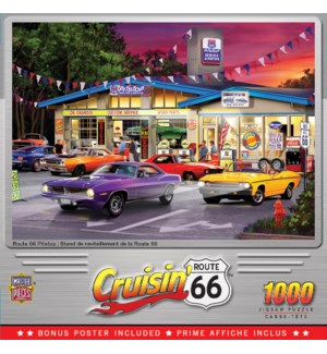 PUZZLES/1000PC Cruisin' Rt66
