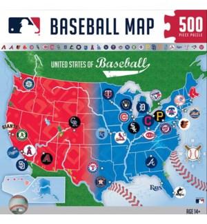 PUZZLES/500PC MLB League Map