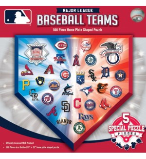 PUZZLES/500PC MLB Team Logos