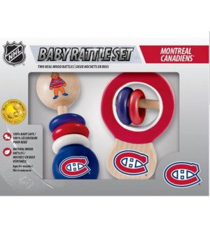 TOY/Canadiens Wood Rattle Set