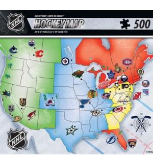 PUZZLES/500PC NHL League Map