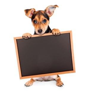 BBD/Puppy Holding Chalkboard