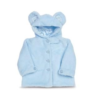COAT/Huggie Bear Bl (6-12)