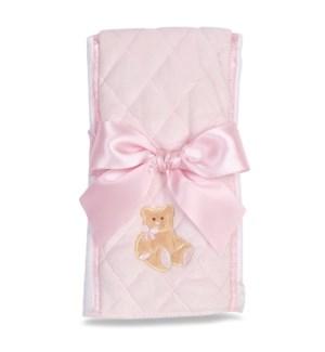 BURPCLOTH/Huggie Bear (Pink)