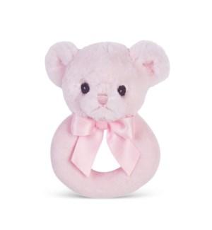 RATTLE/Huggie Bear (Pink)