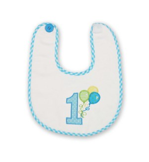 BIB/His 1st Birthday (Blue)