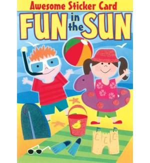 CBD/Beach Fun Sticker Card