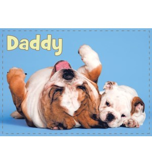 RBD/Bulldog Dad and Puppy