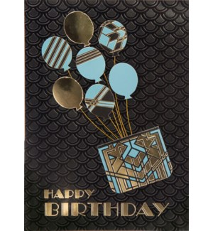 BD/Art Deco Birthday Balloons
