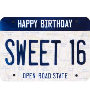 ABD/Sweet 16 License Plate