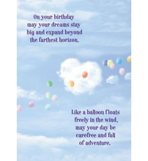 BD/Birthday Balloon In Sky