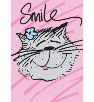 EN/Smiling Cat With Flower