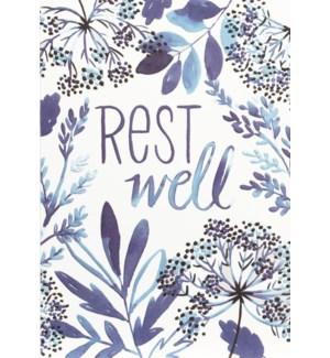 GW/Rest Well In Blue Flowers